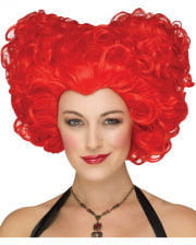 Heart Queen Wig Red