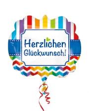 Folienballon Herzlichen Glückwunsch Rainbow XL