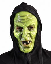 Hexenmaske mit Warzen & Kapuze