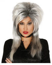 Witch Wig Grey-black