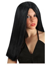Longhair Wig Black, Parted