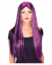 Witch Wig With Purple Strands
