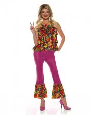 Hippie Girl Kostüm mit Schlaghose