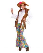 Hippie Women's Costume With Braids Gr. M