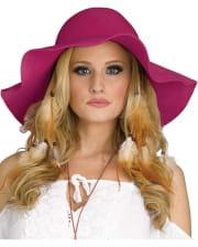 Hippie Costume Hat Pink