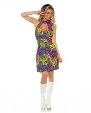 Hippie Neckholder Costume Dress Glow