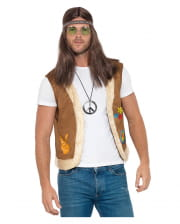 Hippie Vest With Fake Fur And Print