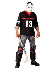 Hockey Spieler Kostüm mit Maske