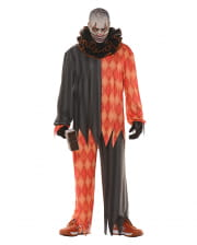 Evil clown costume with ruffled collar