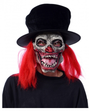 Horror Clown Maske mit Hut