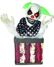Horrorclown in Box Animatronic 43cm