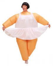 Ballerina Kostüm aufblasbar