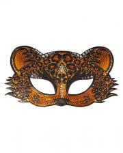 Leopard Augenmaske mit Strass