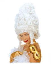 Weiße Rokoko Barock Damenperücke