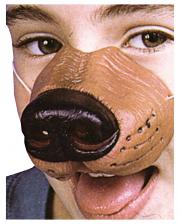 Hundenase mit Gummiband