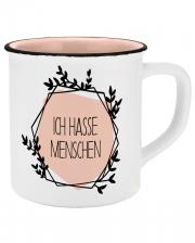 Ich hasse Menschen Keramik Tasse