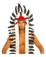 Indianer Federschmuck lang