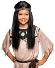 Indianer Mädchen Perücke