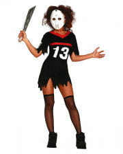 Ice Hockey Ladies Costume With Mask
