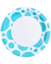 Karibik Blaue Dots Pappteller 8 St.