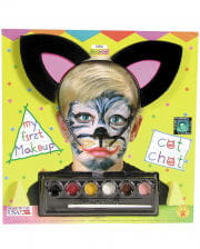 Children cat make-up kit with cat ears