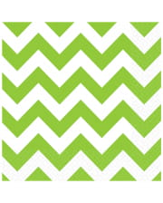 Kiwi Green Zig-Zag Napkins 20 Pc.