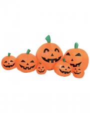 Kürbisfamilie Halloween Deko Aufblasfigur 235 cm