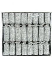 Knallbonbons Glittereffekt Silber 8 St.