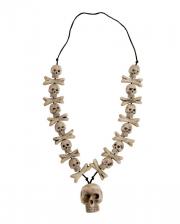 Knochen Halskette mit Totenschädel