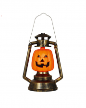 Pumpkin Lantern With Light 32 Cm