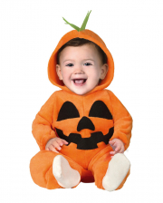 Pumpkin Plush Costume Jumpsuit For Toddlers