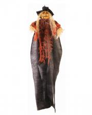 Kürbis Vogelscheuche Hängefigur 60cm