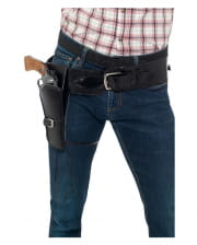 Synthetic Leather Pistol Holster Black