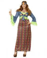 Kurvige Hippie Lady Plus Size Kostüm
