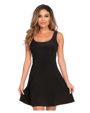 Short Skater Dress Black