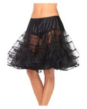 Petticoat Knielang schwarz