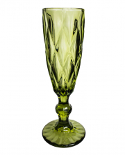 Lenora Gothic Champagne Glass Green