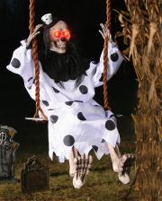 Bright Clown Skeleton On Swing 90 Cm