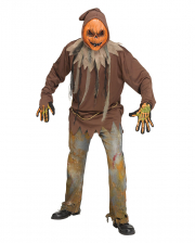Glowing Pumpkin Zombie Costume One Size