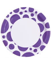 Purple Dots Paper Plates 8 Pc.