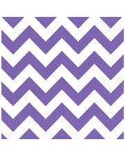 Purple Zig-zag Napkins 20 Pcs.