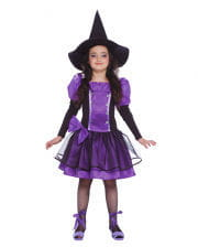 Purple Witch Child Costume with bow