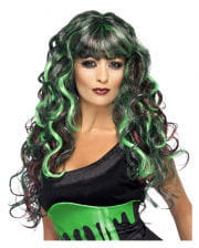 Siren Curly Wig green-purple