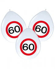 Balloons traffic sign 60