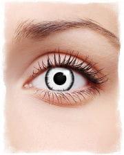 Lunatic contact lenses white