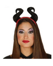 Devil headband with horns