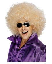 Mega-Afro Perücke blond