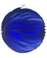 Metallic Ballon-Lampion blau 25 cm