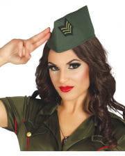 Offiziersmütze grün