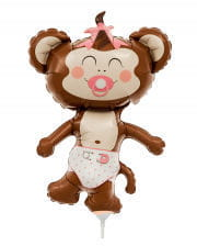 Mini foil balloon Baby Girl monkeys